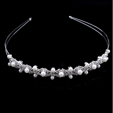Crystal / Imitation Pearl Headbands with 1 Wedding / Party / Evening Headpiece