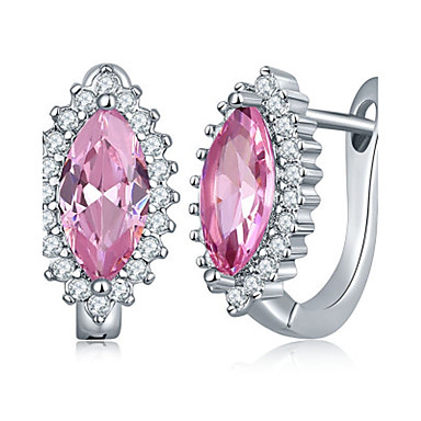 Női Luxus Kocka cirkónia Cirkonium Beszúrós fülbevalók - Luxus / Divat Kék / Rózsaszín / Tengerészkék Taper Shape Fülbevaló Kompatibilitás