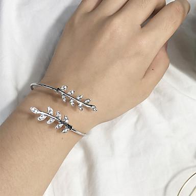 abordables Bracelet-Manchettes Bracelets Femme Forme de Feuille dames Mode Bracelet Bijoux Argent Or Rose pour Quotidien