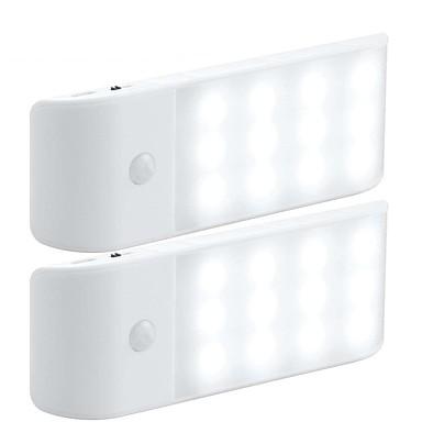 2db LED éjszakai fény Meleg fehér Fehér USB Infravörös érzékelő