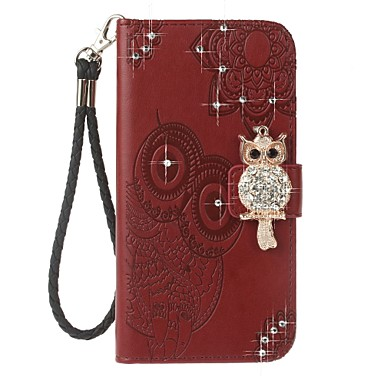 Case For OnePlus Card Holder Wallet Rhinestone with Stand Flip Pattern Embossed Full Body Cases Owl Hard PU Leather for One Plus 5