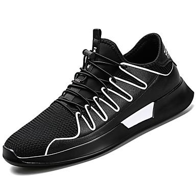 Férfi cipő Szövet Bőrutánzat Háló Tél Ősz Kényelmes Sportcipők Gyalogló Fűző mert Sport Hétköznapi Fekete Piros Fekete/fehér