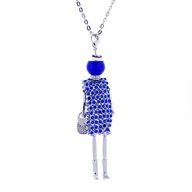 levne Dámské šperky-Dámské Prohlášení Náhrdelníky Dlouhé Princezna dámy Luxus Cikánské Cikánský Krajka Slitina Červená Růžová Světle modrá Náhrdelníky Šperky Pro Podium Klub