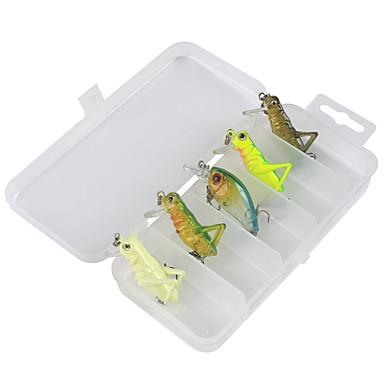 5 pcs Fishing Accessories Set Lure Packs Plastic Carbon Steel Sea Fishing Bait Casting Ice Fishing Spinning Freshwater Fishing Trolling &