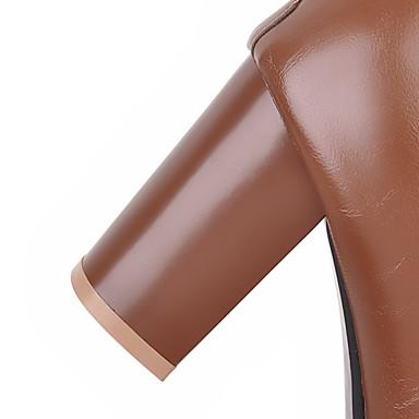 Bottier Automne Bottes Talon Botillons 06242503 la pour à Similicuir Mode Fermeture Demi carré Bottes Hiver Bottine Botte Chaussures Bout Femme CWqPSq