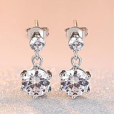 Women's AAA Cubic Zirconia Drop Earrings - Cubic Zirconia Fashion, Elegant Silver For Wedding / Evening Party