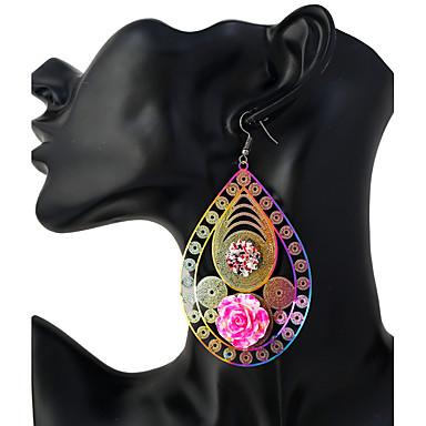 Női Rozsdamentes acél Függők - Személyre szabott / Divat Rózsaszín Geometric Shape Fülbevaló Kompatibilitás Ajándék / Alkalmi