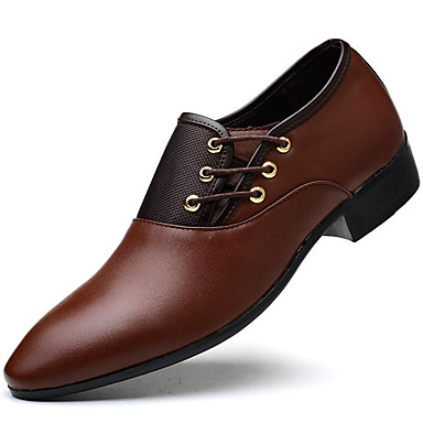 Men's Formal Shoes PU(Polyurethane) Fall / Winter Business Oxfords Black / Yellow / Brown / Party & Evening / Dress Shoes
