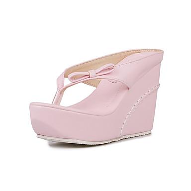 Bride semelle Femme Sandales Eté A Chaussures compensée Nouveauté Confort Bout Arrière Automne Hauteur Polyuréthane Rapporté 06234841 de 407Fw4Cq