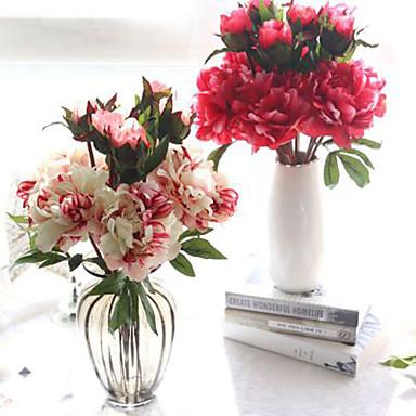 Artificial Flowers 1 Branch European Peonies Tabletop Flower