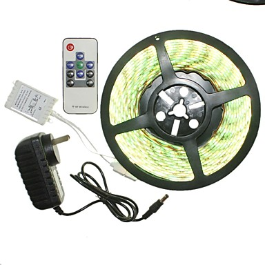 SENCART 5m Light Sets 300 LEDs RGB Remote Control / RC / Cuttable / Dimmable 100-240V 1set / 5050 SMD / IP65 / Linkable / Self-adhesive