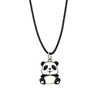 abordables Collier-Collier Pendentif Homme Femme Panda Animal Adorable Noir Colliers Tendance Bijoux pour Soirée
