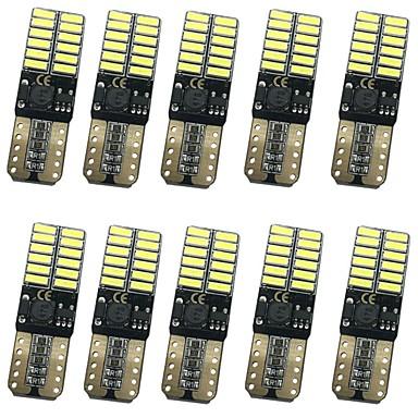 10pcs T10 Autó Izzók 12W SMD 4014 1000lm 24 külső világítás For Univerzalno Összes modell Minden évjárat