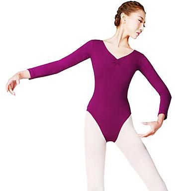 Balett Női Teljesítmény Nejlon Hosszú ujj Természetes Akrobatatrikó / Egyrészes