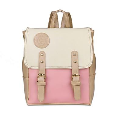 Women's Bags PU(Polyurethane) Backpack Rivet Blushing Pink