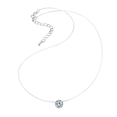Women's Choker Necklace - Rhinestone Simple Style, Fashion White Necklace For Party