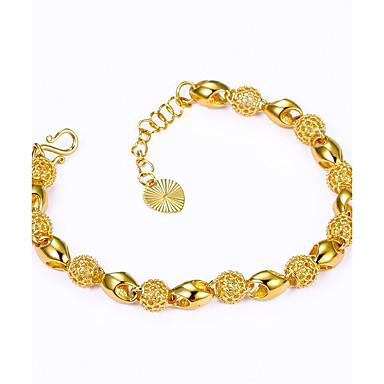 Férfi / Női Lánc & láncszem karkötők - Arannyal bevont Luxus Karkötők Arany Kompatibilitás Esküvő / Ajándék