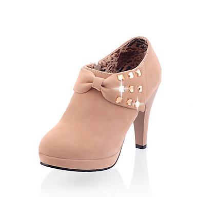 Mujer Zapatos Sintético / PU Verano / Otoño Confort / Innovador Tacones Paseo Tacón Stiletto Dedo Puntiagudo Pajarita Negro / Beige / Rosa xL4OOFQDhJ