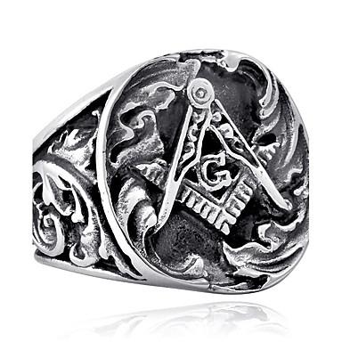 Férfi Gyűrű - Rozsdamentes acél, Titanium Acél Vintage, Punk, Divat 7 / 8 / 9 / 10 / 11 Arany / Fekete / Ezüst Kompatibilitás Napi Hétköznapi