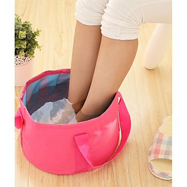 Textile Plastic Oval Waterproof Pouches Portable Travel Home Organization, 1pc Laundry Bag & Basket