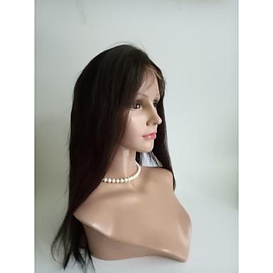 Szintetikus csipke front parókák Egyenes Szintetikus haj Fekete Paróka Női Hosszú Természetes paróka Csipke eleje