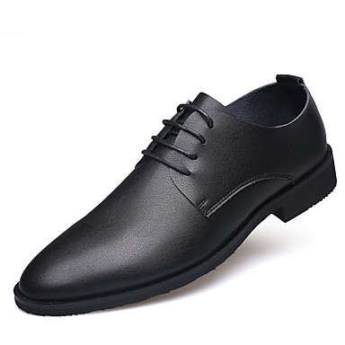 Férfi cipő Bőr Tél Ősz Formai cipő Kényelmes Félcipők Fűző mert Hétköznapi Hivatal és karrier Fekete