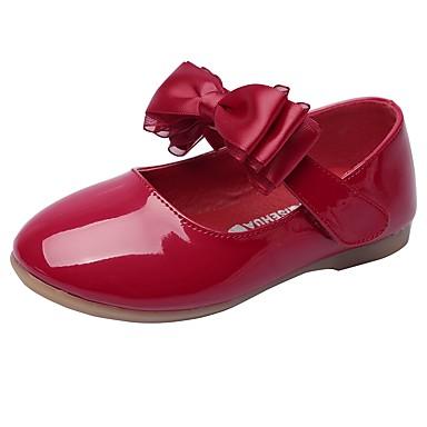 Lány Cipő Bőrutánzat Tavasz / Ősz Kényelmes / Virágoslány cipők Lapos Csokor / Átlátszó ragasztószalag mert Fehér / Fekete / Piros