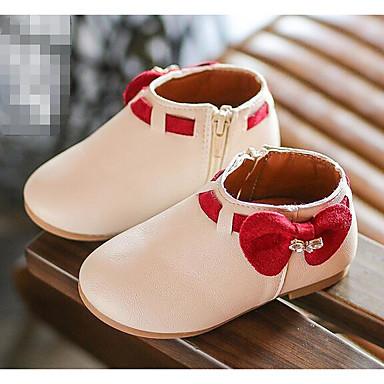 baratos Sapatos de Criança-Para Meninas Courino Botas Little Kids (4-7 anos) Conforto Bege / Cinzento / Rosa claro Primavera / Outono
