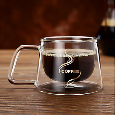 Drinkware Glass Mug Double Wall Heat-Insulated 1pcs