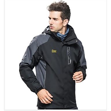 Férfi Planinarska jakna Külső Tél Szélbiztos Vízálló Viselhető Lélegzési képesség Téli kabát Felsők Teljes hosszában látható cipzár