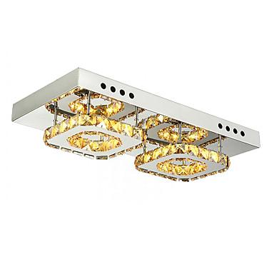 Flush Mount Downlight - Crystal, 110-120V / 220-240V, Cold White / Yellow, LED Light Source Included / 5-10㎡ / LED Integrated