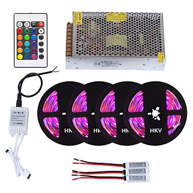 abordables Bandes Lumineuses LED-HKV 20m Ensemble de Luminaires 1200 LED 3528 SMD RVB Télécommande / Découpable / Intensité Réglable 110-220 V 1set / IP65 / Imperméable / Connectible / Auto-Adhésives / Couleurs changeantes