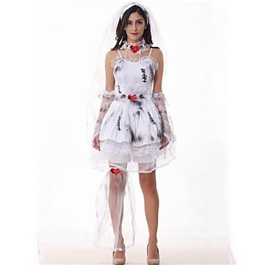 Vestidos Novia De Dia Baile Máscaras Zombi Mujer Carnaval Halloween R54jq3AL