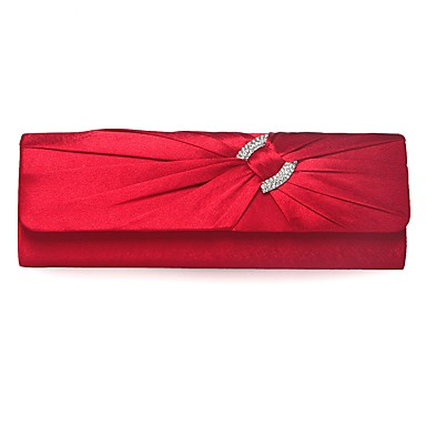 Women's Bags Silk Clutch Bow(s) / Buttons Silver / Red / Purple