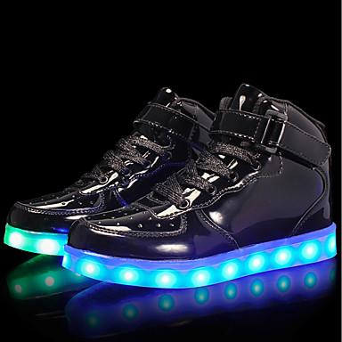 Dla chłopców Obuwie Skóra patentowa / Materiał do wyboru Jesień Wygoda / Świecące buty Adidasy Sznurowane / Haczyk i pętelka / LED na Srebrny / Niebieski / Różowy