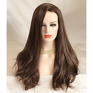 Synthetic Lace Front Wig Wavy Synthetic Hair Brown Wig Women's Long Lace Front