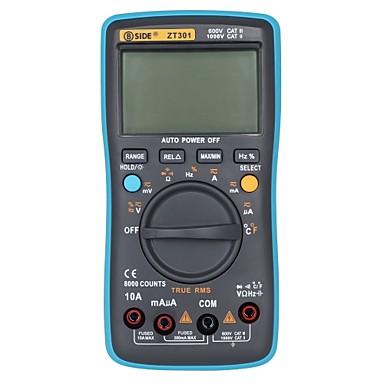 hivatalos bside 8000 counts ture rms digitális multiméter zt301 többfunkciós ac / dc feszültség hőmérséklet-kapacitás tesztelő