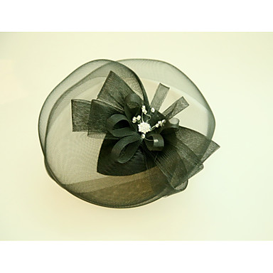 Tulle Rhinestone Net Fascinators Hats with Feather 1 Wedding Special Occasion Event/Party Headpiece