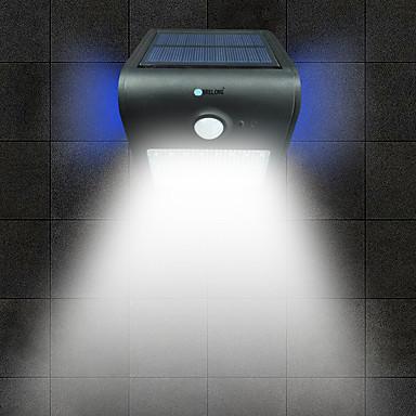 billige Utendørsbelysning-brelong 1 stk 2w led menneskekropps sensor vanntett utendørs flom hvitt lys gylden / hvit / sølv / svart