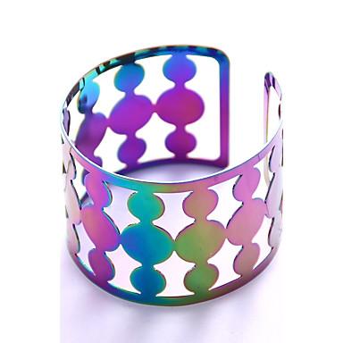Women's Geometric Bangles / Cuff Bracelet - Fashion, Statement Bracelet Rainbow For Stage / Club