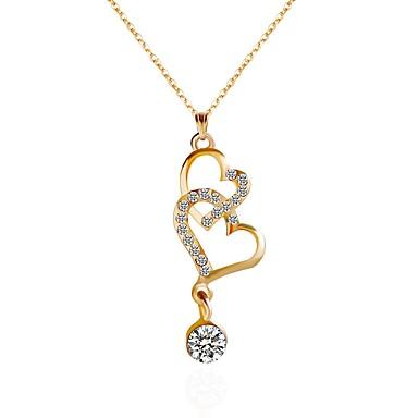 Pentru femei Coliere Choker Coliere cu Pandativ Lănțișoare Inimă Auriu Coliere Bijuterii Pentru Petrecere Zilnic