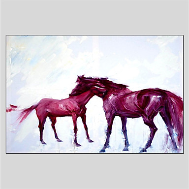 Oil Painting Hand Painted - Animals Comtemporary Canvas