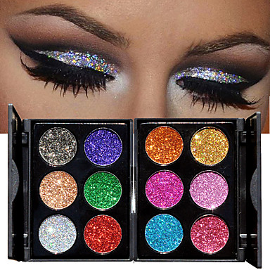 Makeup 6 Colors Eyeshadow / Eyeshadow Palette Cosmetic Professional / Shimmer / Glitter Shine Long Lasting Fashion Daily Makeup / Halloween Makeup / Party Makeup Makeup Cosmetic