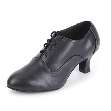 Női Modern cipők Bőr Illesztés Személyre szabott sarok Személyre szabható Dance Shoes Fekete / Otthoni