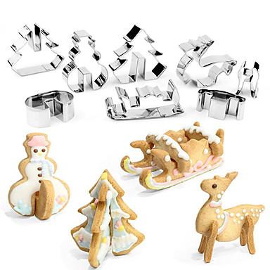 Bakeware eszközök Rozsamentes acél + A ragú ABS / Rozsdamentes Gyermekek / Nem tapad / Sütés eszköz Torta / Keksz / Gyümölcs süteményformákba 8db
