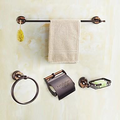 Fürdőszoba tartozék szett Modern stílus / Κλασσική Sárgaréz 4db - Hotel fürdő Toilet Paper Holders / torony / Szappantartó Fali