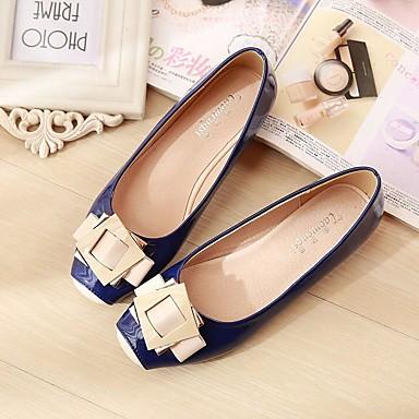 povoljno Ženske cipele-Žene Ravne cipele Ravna potpetica Trg Toe Svinjska koža Udobne cipele Proljeće / Jesen Plava / Pink / Badem / EU41