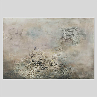 Oil Painting Hand Painted - Abstract Abstract Canvas / Stretched Canvas