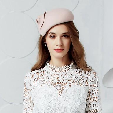 voordelige Hoeden-Wol Kentucky Derby Hat / hatut / Hoofddeksels met Bloemen 1pc Bruiloft / Speciale gelegenheden  / Feest / Uitgaan Helm