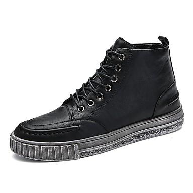 Męskie Buty Mikrowłókno Wiosna / Lato Wulkanizowane buty Tenisówki Black / Brown / Green
